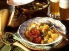 Blutwurst mit Pfeffer-Rüben-Gemüse Rezept