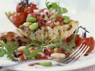 Bohnen-Tomaten-Salat auf getoastetem Ciabatta Rezept