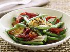 Bohnensalat mit Radicchio, Grillkäse und Sardellen Rezept
