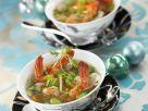 Bohnensuppe mit Riesengarnelen Rezept