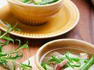 Bohnensuppe mit Speck und Birne Rezept