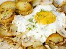 Bratkartoffeln mit Champignons, Fenchel und Ei Rezept