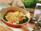 Bratkartoffeln mit Spinat Rezept