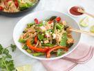 Bratnudeln mit Frühlingsgemüse und Tofu Rezept
