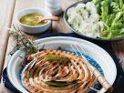 Bratwurstschnecke mit Kartoffelsalat Rezept