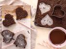 Brownie-Herzen Rezept
