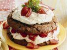 Brownie Strawberry Cake Rezept