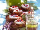 Bruschetta mit Ziegenkäse und Lavendelhonig Rezept