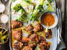 Buffalo-Hähnchenschenkel mit Salat-Wedges Rezept