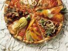 Bunt belegte Pizza Rezept