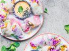 Bunte Sommerrollen mit Cashew-Dip Rezept