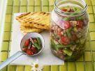 Bunter Gemüsesalat mit grünen Bohnen und Tomaten Rezept