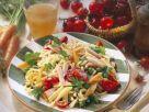 Bunter Nudelsalat mit Kassler und Emmentaler Rezept