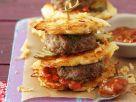 Burger mit Kartoffeln und Buletten Rezept