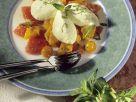 Buttermilchmousse mit Obstsalat Rezept