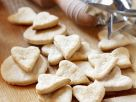 Butterplätzchen in Herzform Rezept