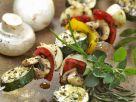 Champignon-Gemüse-Spieße vom Grill Rezept