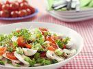 Champignon-Tomaten-Salat mit Porree mit Petersilie Rezept