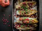 Chicorée mit Granatapfelkernen Rezept