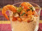 Couscous mit Garnelen, Kürbis und Mandeln Rezept