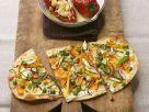 Couscoussalat mit Paprika und Flammkuchen mit Gemüse Rezept