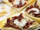 Crêpes mit Ziegenkäse und luftgetrocknetem Schinken (Serrano) Rezept