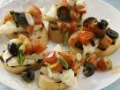 Crostini mit Tomatensalat und Halloumi Rezept