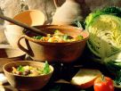 Deftige Gemüsesuppe mit Speck Rezept