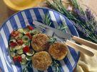 Dinkel-Amaranth-Küchlein mit buntem Gemüse Rezept