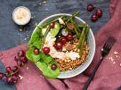 Dinkel-Spinat-Bowl mit Erdnuss-Dressing Rezept