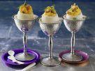 Eier mit Mayonnaise-Creme-Füllung und Krabben Rezept