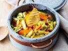 Eintopf mit Gemüse und gegrillten Birnen Rezept