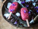Eis am Stiel von schwarzen Johannisbeeren Rezept