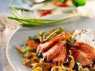 Entenbrust auf Gemüse Rezept