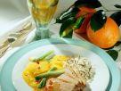 Entenbrust auf marinierten Orangenscheiben Rezept