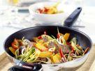 Entenbrust mit Kürbis-Paprika-Gemüse aus dem Wok Rezept