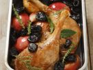 Entenkeulen mit Apfel und Trockenpflaumen gebacken Rezept