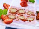 Erdbeer-Parfait mit Biskuits Rezept