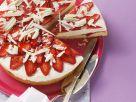Erdbeer-Quarkkuchen mit weißen Schokohobeln Rezept