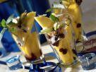 Exotischer Fruchtsalat mit Cranberries und Kokosnuss Rezept
