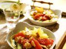 Exotischer Obstsalat mit Mandeln Rezept