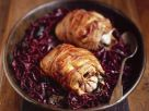 Fasanenfleisch in Speckhülle auf Rotkraut Rezept
