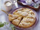 Feiner Apfelkuchen mit Eischnee und Mandeln Rezept