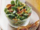 Feldsalat mit Nüssen und Speck Rezept
