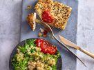 Feta mit Couscous und Harissa-Tomaten-Marmelade Rezept