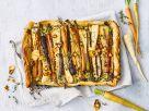 Filoteig-Tarte mit Wurzelgemüse und Ziegenkäse Rezept
