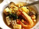 Fisch-Gemüsesuppe mit Meersfrüchten Rezept