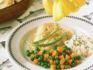 Fisch mit Gemüse und Reis Rezept
