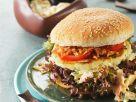 Fischburger mit Krautsalat und Röstzwiebeln Rezept