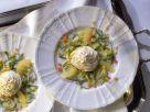 Fischcreme auf Zucchinisalat Rezept